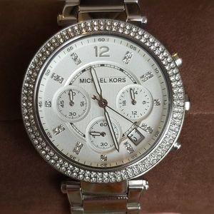 Brand new Michael Kors silver Parker watch